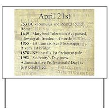 April 21st Yard Sign
