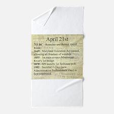 April 21st Beach Towel