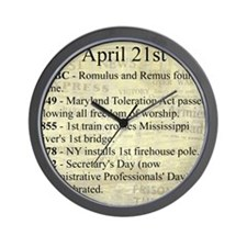 April 21st Wall Clock