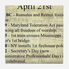 April 21st Tile Coaster
