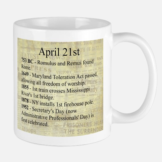 April 21st Mugs