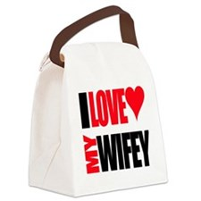 I Love My Wifey Canvas Lunch Bag