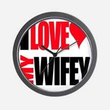 I Love My Wifey Wall Clock