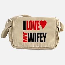I Love My Wifey Messenger Bag