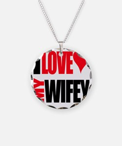 I Love My Wifey Necklace Circle Charm