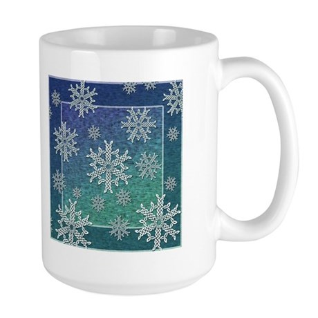 Celtic Knotwork Snowflake Large Mug
