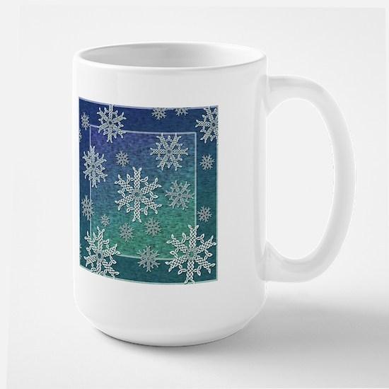 Celtic Knotwork Snowflake Large Mug
