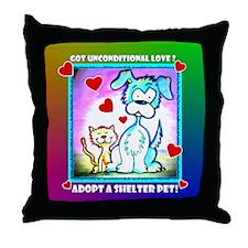 Shelter Pets, Throw Pillow