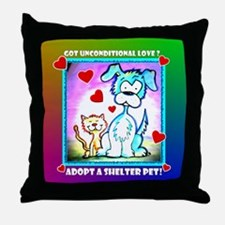 Shelter Pets, Throw Pillow