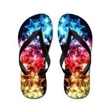 Colorful Stars Flip Flops