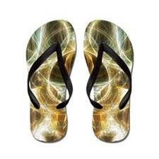 Golden Light Abstract Flip Flops