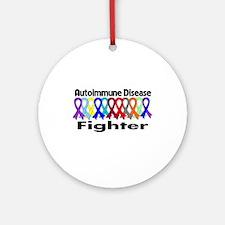 Autoimmune Disease Fighter Ornament (Round)