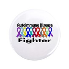 "Autoimmune Disease Fighter 3.5"" Button"