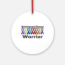 Autoimmune Disease Warrior Ornament (Round)