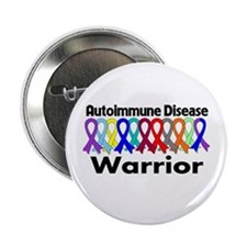 "Autoimmune Disease Warrior 2.25"" Button"