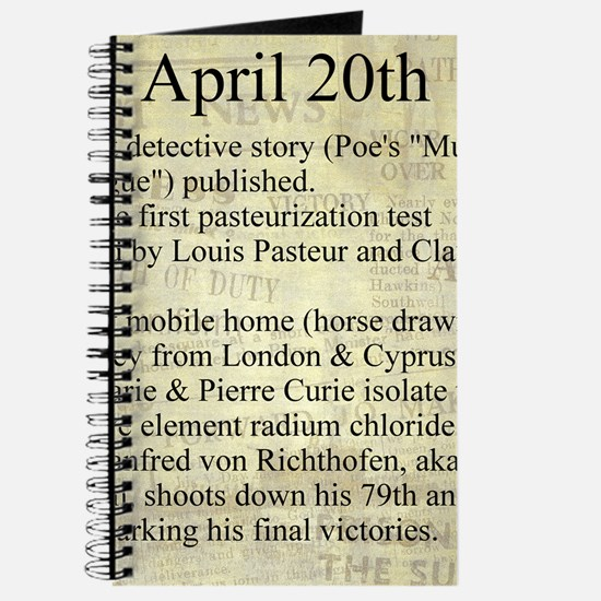 April 20th Journal
