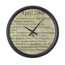 April 20th Large Wall Clock
