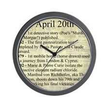 April 20th Wall Clock