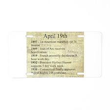 April 19th Aluminum License Plate