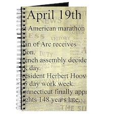April 19th Journal