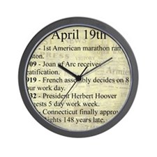 April 19th Wall Clock