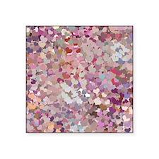 Pink Confetti Hearts Sticker