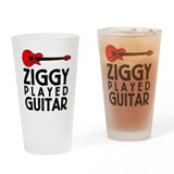 Ziggy played guitar Pint Glasses