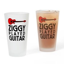 Ziggy Played Guitar Drinking Glass