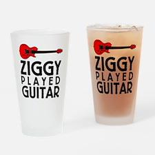 Ziggy Played Guitar Drinking Glass