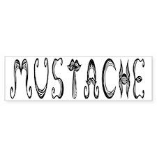Mustache Bumper Sticker