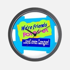 Were Friends Forever Wall Clock