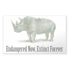 Endangered Rhinoceros Decal