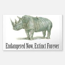 Endangered Rhinoceros Decal