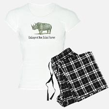 Endangered Rhinoceros Pajamas