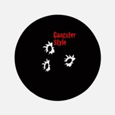 """Gangster Style 3.5"""" Button"""
