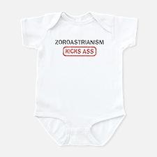 ZOROASTRIANISM kicks ass Infant Bodysuit