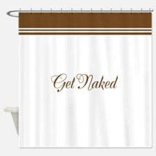 Get Naked Brown Shower Curtain