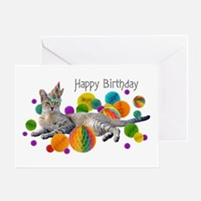 Party Cat Happy Birthday Greeting Card