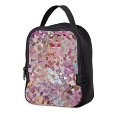 Pink Confetti Hearts Neoprene Lunch Bag