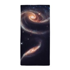 Spiral Galaxies Interacting Beach Towel