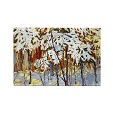 Tom Thomson - Snow-Covered Trees Rectangle Magnet