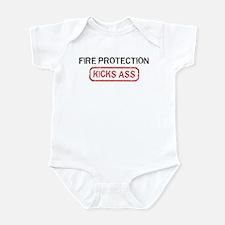 FIRE PROTECTION kicks ass Infant Bodysuit