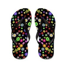 Colorful Flowers Flip Flops