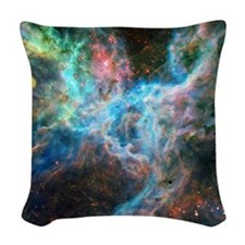 Tarantula Nebula Woven Throw Pillow