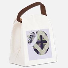 Purple Butterfly Bowl Canvas Lunch Bag