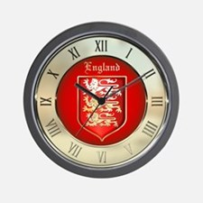 Englands Coat of Arms Wall Clock