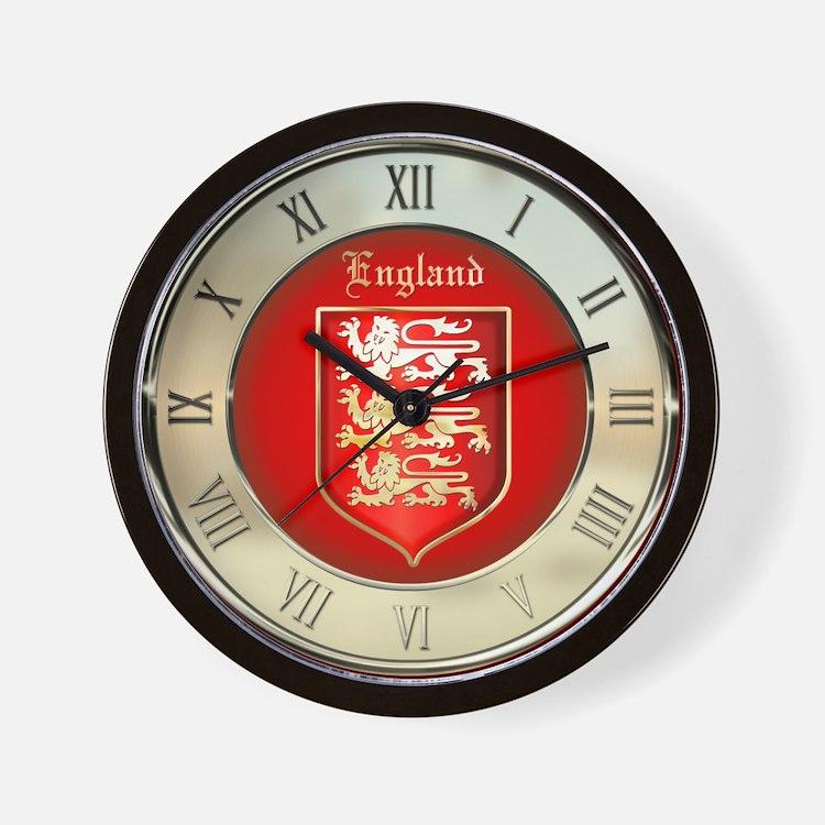 Englands Coat of Arms Wall Clock