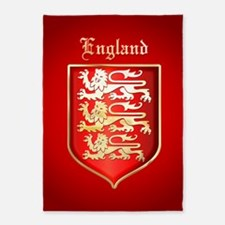 Englands Coat of Arms 5'x7'Area Rug