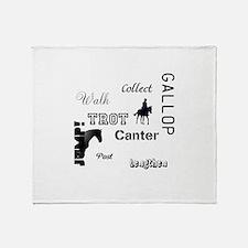 Horse Design #52000 Throw Blanket