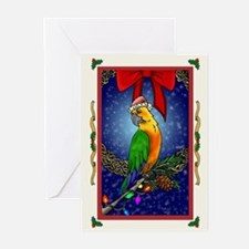 Christmas Bird1 Card Greeting Cards